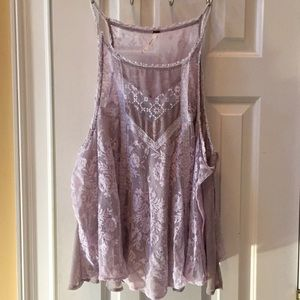 Free People UO lacy pastel lavender open side CAMI